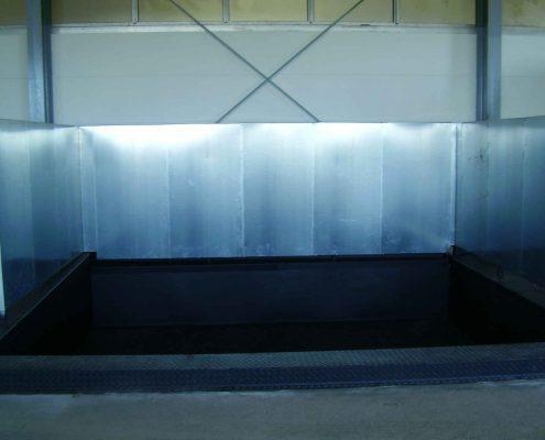 Abfüllfläche nach WHG, Grube und Tanks, Vakuumüberwacht