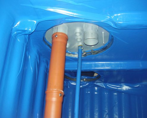 Ausgedienter Kellertank nach dem Umbau zur Wasserzisterne