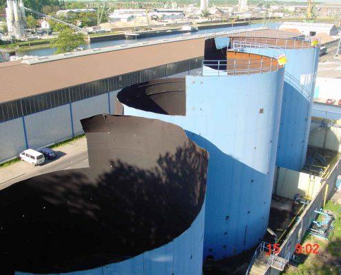 Rückbau von 3 x 5 Mio. Liter Stahltanks